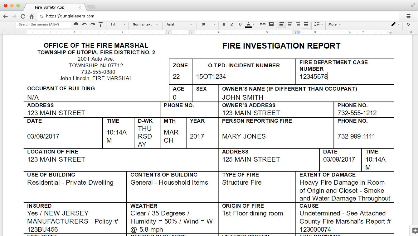 Home Fire Inspection Checklist Nj Flisol Home